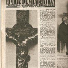 Coleccionismo de Revista Destino: AÑO 1957 LA CRUZ DE VILABERTRAN MANUEL BRUNET AGUA SAN NARCISO JOSE SANABRA LUIS TREPAT PINTURA. Lote 11617202