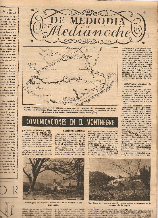 AÑO 1953 COMUNICACIONES EN EL MOTNEGRE EL CIRCO VICENTE ALEIXANDRE DOCE VENTRILOQUIA LLOVET C PIQUER (Coleccionismo - Revistas y Periódicos Modernos (a partir de 1.940) - Revista Destino)