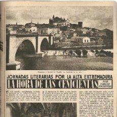 Coleccionismo de Revista Destino: AÑO 1955 CONDE DEL MONTSENY ALTA EXTREMADURA BALAGUER CUIXART JAZZ SIDNEY BECHET CARROZAS CARRUAJES. Lote 11621842