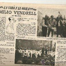 Coleccionismo de Revista Destino: 1955 PERIODICO LA FLACA BCNA EMILIO VENDRELL EL DUELO FONTANET PINTURA MUERTE JOSE M JUNOY PIRELLI. Lote 11637639