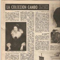 Coleccionismo de Revista Destino: AÑO 1955 PINTURA COLECCION CAMBO CAPILLA DE MARCUS JOSE Mª SUBIRACHS AGRUPACION ASTRONOMICA ASTER. Lote 11670339