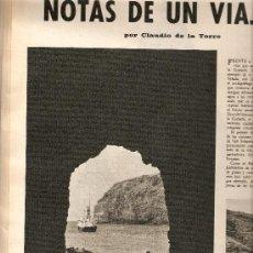 Coleccionismo de Revista Destino: AÑO 1967 CALELLA FRESAS LA GOMERA ARRABAL FLOTATS TEATRO JOAN TEIXIDOR LA SARDANA Y LA COBLA BEATLES. Lote 11684209