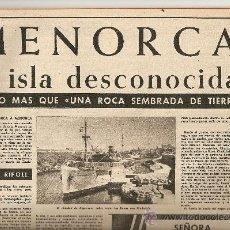 Coleccionismo de Revista Destino: 1960 FRANCO EN GIRONA MALLORCA FERIAS AMBULANTES MENORCA GORILA LIDIA CAMPRUBI MANRESA NADADORA. Lote 11714549