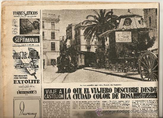 AÑO 1956 CASTELLON CASTILLOS CATALANES CORPUS ORIENT MALLORCA FERIA BARCELONA CARLOS CRUZ DIEZ (Coleccionismo - Revistas y Periódicos Modernos (a partir de 1.940) - Revista Destino)