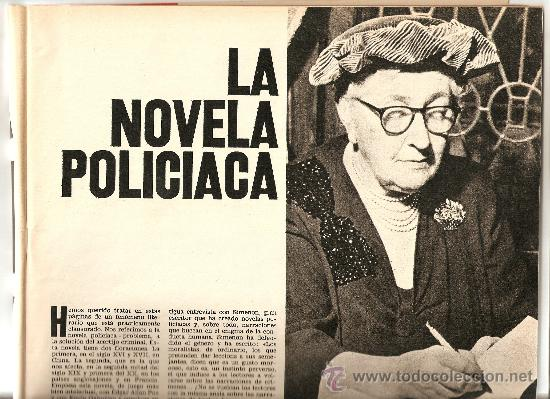 AÑO 1971 ESPECIAL LA NOVELA POLICIACA AGHATA CHRISTIE REGLAS VAN DINE SHERLOCK HOLMES DETECTIVE CINE (Coleccionismo - Revistas y Periódicos Modernos (a partir de 1.940) - Revista Destino)