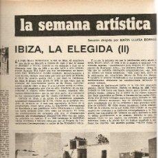 Coleccionismo de Revista Destino: REVISTA.AÑO 1970.DROGAS.IBIZA.HOMBRES BLANCOS.F.GARCIA PAVON.JOAN BROSSA.. Lote 11776065
