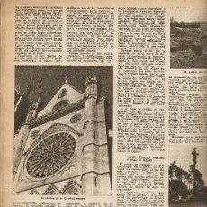 Coleccionismo de Revista Destino: AÑO 1954 FRANCISCO VIÑAS CAMINO SANTIAGO FUENTE VILADOMAT TARRAGONA JOSE MOIX RESTAURADOR GRABADO. Lote 11829687