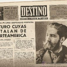 Collectionnisme de Magazine Destino: AÑO 1958 ARTURO CUYAS LA LLUMANERA SOBERANO COÑAC AGHATA CHRISTIE CHARLOT Y SUS HIJOS MALLOL SUAZO. Lote 11831531
