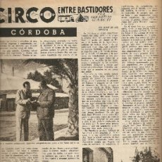 Coleccionismo de Revista Destino: REVISTA.AÑO 1954.JUAN MANEN.EL CIRCO.CORDOBA.PARCHES SOR VIRGINIA.LIXY.. Lote 11836332