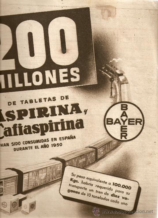 REVISTA.AÑO 1951.BISHOP.ALCA-SODA.BANCO DE LA PROPIEDAD.CAMPARI.ASPIRINA. (Coleccionismo - Revistas y Periódicos Modernos (a partir de 1.940) - Revista Destino)