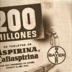 Coleccionismo de Revista Destino: REVISTA.AÑO 1951.BISHOP.ALCA-SODA.BANCO DE LA PROPIEDAD.CAMPARI.ASPIRINA.. Lote 11849351
