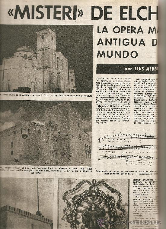 1965 OPERA MISTERI ELCHE MAR MENOR FELIPE II AEROPUERTO GIRONA TRIAS DE BES REINA ELISABETH BELGICA (Coleccionismo - Revistas y Periódicos Modernos (a partir de 1.940) - Revista Destino)