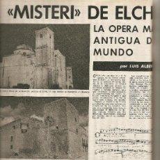 Coleccionismo de Revista Destino: 1965 OPERA MISTERI ELCHE MAR MENOR FELIPE II AEROPUERTO GIRONA TRIAS DE BES REINA ELISABETH BELGICA. Lote 11879192