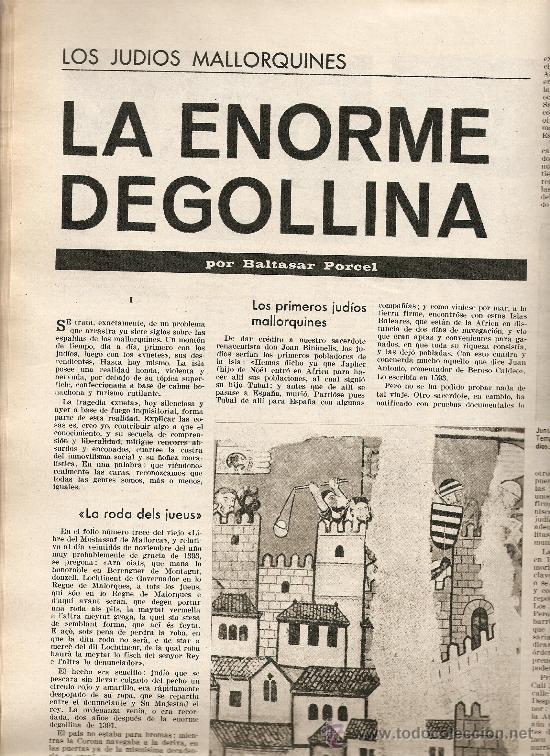 AÑO 1967 BARCELONA URBANISMO LOS JUDIOS MALLORQUINES SALVADOR DE MADARIAGA NOMENCLATURA CASTILLOS (Coleccionismo - Revistas y Periódicos Modernos (a partir de 1.940) - Revista Destino)