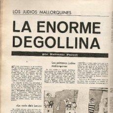 Coleccionismo de Revista Destino: AÑO 1967 BARCELONA URBANISMO LOS JUDIOS MALLORQUINES SALVADOR DE MADARIAGA NOMENCLATURA CASTILLOS. Lote 11880919