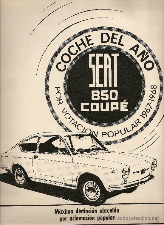 REVISTA.AÑO 1968.BAGUES.MARAGALL Y LA CRISIS DEL 98.YANKO.SEAT 850 COUPE. (Coleccionismo - Revistas y Periódicos Modernos (a partir de 1.940) - Revista Destino)