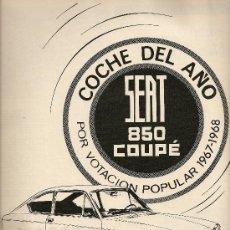 Coleccionismo de Revista Destino: REVISTA.AÑO 1968.BAGUES.MARAGALL Y LA CRISIS DEL 98.YANKO.SEAT 850 COUPE.. Lote 11931343