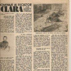 Coleccionismo de Revista Destino: AÑO 1956 DOCTOR JOSE ROIG RAVENTOS ESCULTURA JOSE CLARA PEDRO FLORES ANIS DEL MONO 90 AÑOS SIBELIUS. Lote 11935944
