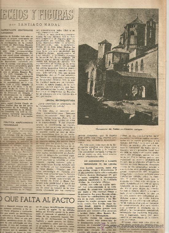 Coleccionismo de Revista Destino: AÑO 1949 APICULTURA ABEJAS MIEL COLMENA PINTURAS ROMANICAS MUSEO DEL PRADO ERMITA CRUZ DE MADERUELO - Foto 3 - 12027661