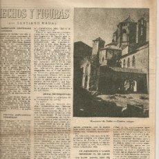 Coleccionismo de Revista Destino: REVISTA.EMIGRACION CATALUÑA.F.SOLER.POBLET.LA MIEL.ROMANICO.. Lote 12027661