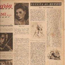 Coleccionismo de Revista Destino: REVISTA.AÑO 1945.PAJAROS RAMBLA.NEOCID.LA GUERRA MUNDIAL NIÑOS.OBIOLS EN MONTSERRATMUSICA.. Lote 12034157