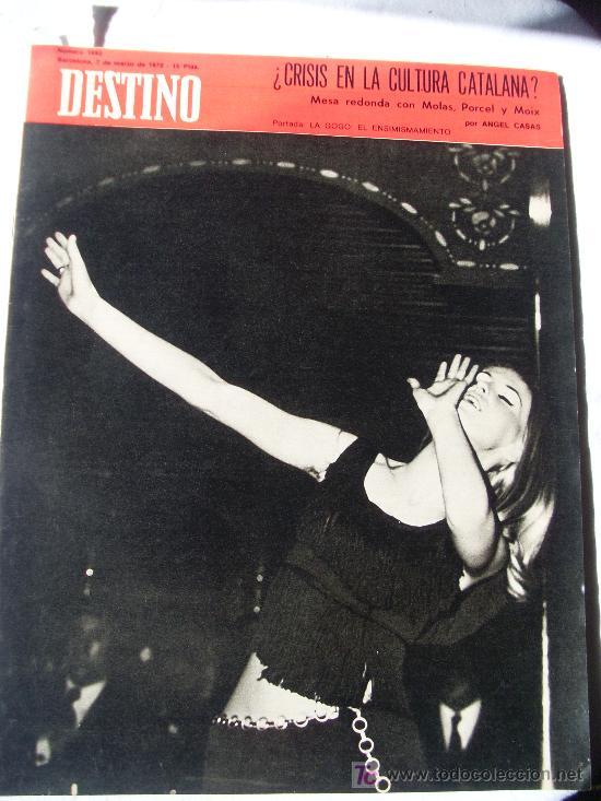 REVISTA DESTINO 1692 DEL 7 MARZO 1970 (Coleccionismo - Revistas y Periódicos Modernos (a partir de 1.940) - Revista Destino)