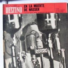 Coleccionismo de Revista Destino: REVISTA DESTINO 1722 DEL 3 OCTUBRE 1970. Lote 26871404