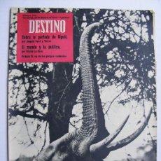 Coleccionismo de Revista Destino: REVISTA DESTINO Nº 1176 FEBRERO DE 1960. Lote 24711960