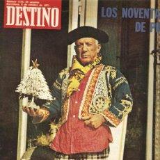 Coleccionismo de Revista Destino: DESTINO: DOSSIER PICASSO . Lote 13946762