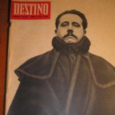 Coleccionismo de Revista Destino: AZORIN REVISTA DESTINO Nº 1544 MARZO 1967 SATELITE FELLINI SACHAROFF LUJAN PORCEL BOHIGAS PLA. Lote 26217120