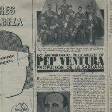 Coleccionismo de Revista Destino: REVISTA 1955 SARDANA PEP VENTURA CABANAS FIGUERES JOAQUIN MARSILLACH LLEONART MOSSOS D' ESQUADRA. Lote 17752506