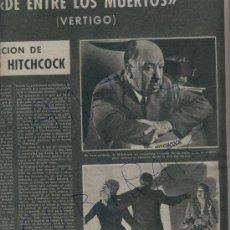 Coleccionismo de Revista Destino: DE ENTRE LOS MUERTOS VERTIGO ALFRED HITCHCOCK KIM NOVAK SIR GUILLAUME MOLLFULLEDA CALISAY ARENYS. Lote 17865497