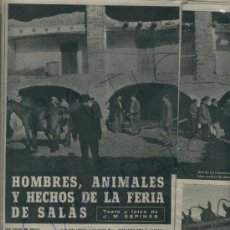 Coleccionismo de Revista Destino: 1959 CALISAY FERIA DE SALAS DE PALLARS LA POBLA DE SEGUR MERCADO DE CABALLOS CERVEZA DAMM. Lote 17865857
