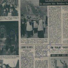 Coleccionismo de Revista Destino: REVISTA 1957 GUERRA EN ISRAEL EGIPTO KADESEH.EL BARÇA EN MONTSERRAT MOSSOS D' ESQUADRA GOYTISOLO. Lote 17866614