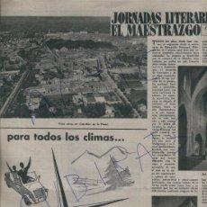 Coleccionismo de Revista Destino: REVISTA 1957 JORNADAS LITERARIAS EN CASTELLON MAESTRAZGO SAN MATEO FOLGUEROLES ALGUER CATORDI. Lote 17879129