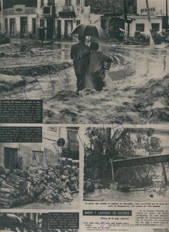 Coleccionismo de Revista Destino: REVISTA 1957 INUNDACIONES EN VALENCIA BARRIO DE NAZARET HILLARY EN LA EXPEDICION ANTARTICA VILATO - Foto 2 - 17879291