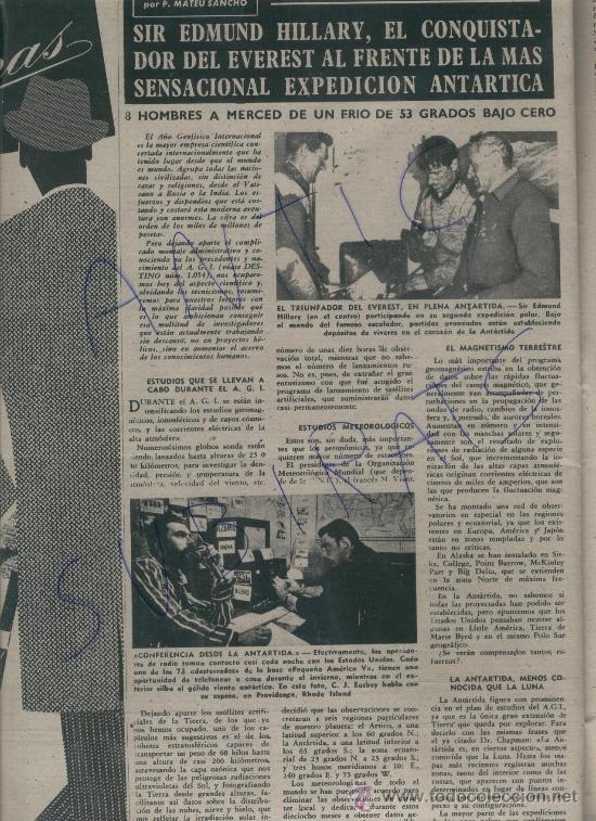 Coleccionismo de Revista Destino: REVISTA 1957 INUNDACIONES EN VALENCIA BARRIO DE NAZARET HILLARY EN LA EXPEDICION ANTARTICA VILATO - Foto 3 - 17879291
