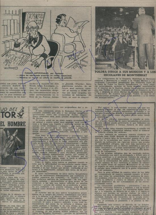 Coleccionismo de Revista Destino: REVISTA 1957 TOLDRA DIRIGE A LA ESCOLANIA DE MONTSERRAT PRIORAT CABASSERS CERVEZA DAMM VENDIMIA - Foto 2 - 17879763