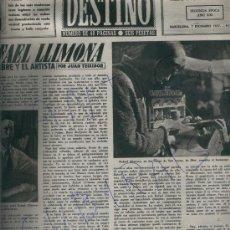 Coleccionismo de Revista Destino: REVISTA 1957 RAFAEL LLIMONA JOAQUIM SERRA SARDANA BOHI DURRO ERILL TAÜLL JIJONA TENZING EVEREST. Lote 17880041