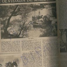 Coleccionismo de Revista Destino: REVIST 1949 MALLORCA CALA FIGUERA SANTANYI SES DONES CALA D'OR ES PONTAS PICASSO HACE CINE VALLAURIS. Lote 17884111