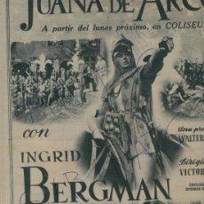 Coleccionismo de Revista Destino: 1949 CIRCO MICAELA BUSCH CINE JUANA DE ARCO INGRID BERGMAN EDUARD TOLDRA EN LLADO FIGUERES. Lote 17895675