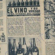 Coleccionismo de Revista Destino: REVISTA.695. 02-12-1950.LAS BOTELLAS MAS VIEJAS DE CAVA. CHAMPAN. XAMPANY.CHAMPAGNE.MOET CHANDON.. Lote 17898233