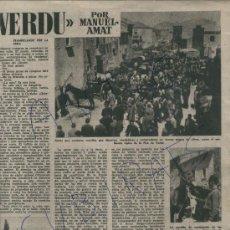 Coleccionismo de Revista Destino: REVISTA. 716. 28-04-1951.FIRA DE VERDU. GITANOS. ESPECTACULARES FOTOS. . Lote 17987162