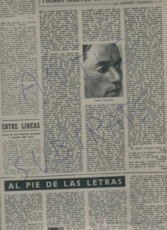 1951 IVES MONTAND POEMAS INEDITOS DE MIGUEL HERNANDEZ LUIS VALERI CRISTIAN DIOR BALENCIAGA (Coleccionismo - Revistas y Periódicos Modernos (a partir de 1.940) - Revista Destino)