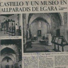 Coleccionismo de Revista Destino: REVISTA 1961VALLPARADIS DE EGARA MUSEO TARRASA TODO CINE JUAN ANTONIO BARDEM ALBERT FRATELLINI CIRCO. Lote 18037115