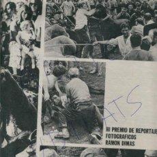 Coleccionismo de Revista Destino: REVSITA 1971 FOTOGRAFO RAMON DIMAS SABUCEDO CABALLOS SALVAJES CORTES DE CRINES CATANY IBIZA. Lote 18037933