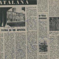 Coleccionismo de Revista Destino: REVISTA 1961 VERDU SEGARRA LLEIDA LA MUSSARA POBLE ABANDONAT CADAQUES SALVADOR DALI GUASCH. Lote 18040112
