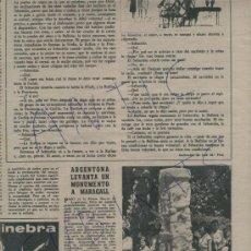 Coleccionismo de Revista Destino: REVISTA 1961ARGENTONA TAULL MARAGALL VICENTE ESCUDERO FERNANDO TEXIDOR EL CASERIO KODAC BISHOP'S. Lote 18072297