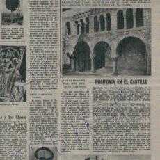 Coleccionismo de Revista Destino: REVISTA 1961 ROCK AND ROLL EN PALAMOS SANT FELIU DE GUIXOLS CASTILLO DE CASTELLDEFELS ANGEL FERRANT. Lote 18074177