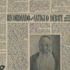 Coleccionismo de Revista Destino: REVISTA 1951 PADRE MIGUEL DE ESPLUGAS ANECDOTAS DE EMILIA PARDO BAZAN. Lote 18074413